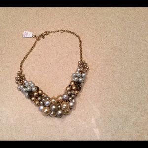 Lia Sophia necklace with silver and gold balls